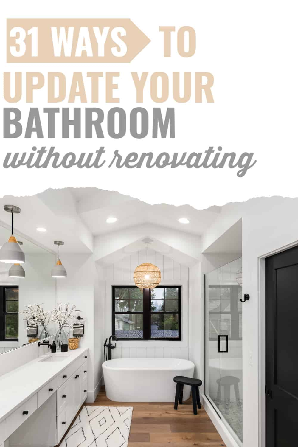 how to make an old bathroom look new/cheap bathroom updates